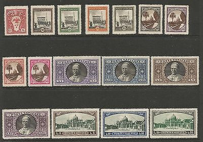 VATICAN 1933 PICTORIAL DEFINITIVES (16) Mi 21-36 MNH**