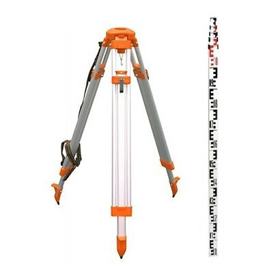 CST Dome Head Tripod & 4M metric Leveling Rod Kit for Auto Levels and Lasers