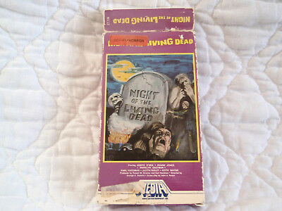 Night Of The Living Dead Vhs Media Video George Romero Classic Zombie Horror