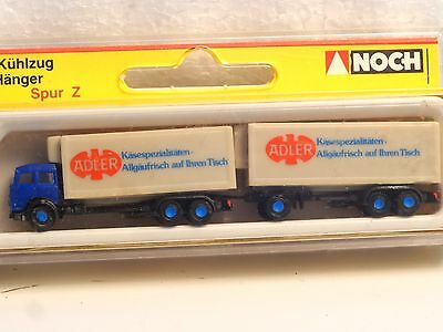 Z-scale Noch 4767 Fiat Refer Truck and trailer ADLER cheese company