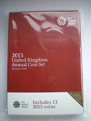 GB 2015 Royal Mint Brilliant Uncirculated Annual coin set
