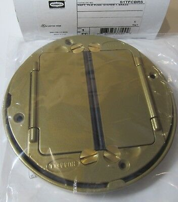 New Hubbell S1Tfcbrs Systemone Tile Flange & Floor Box Cover Assembly