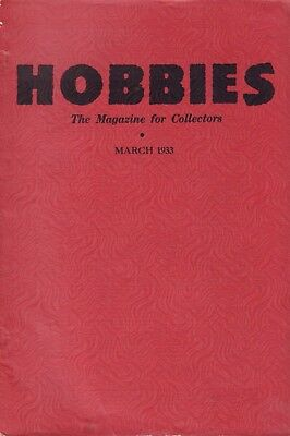 Hobbies The Magazine For Collectors March 1933 090617nonjhe