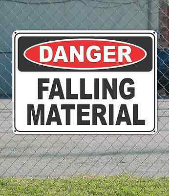"DANGER Falling Material - OSHA Safety SIGN 10"" x 14"""