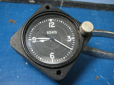 Vintage Aviation Aircraft 8 Day Cockpit Clock, by Century Instrument Corp C-2100
