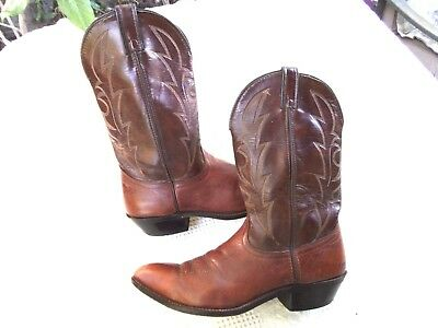 """""""laredo"""" Brown Leather Western Boots Men 12D (Nice)"""
