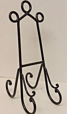 Cookbook Stand~Bronze Wrought Iron Book Holder~Excellent Condition