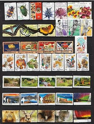 2014 To 2017 100 Australian Stamps  All Different  Used