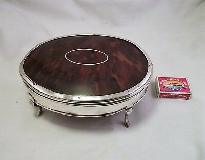 Extra Large Solid Silver & Faux Tortoishell Box  Comyns For Asprey - London 1917