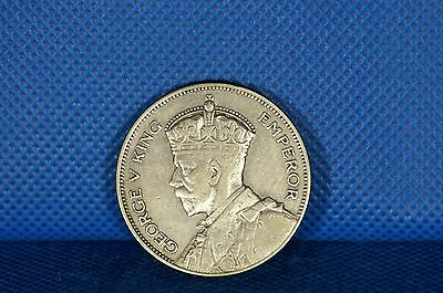 1934 New Zealand Half Crown Silver Coin