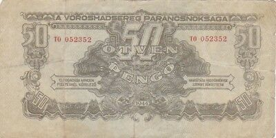 1944 Hungary 50 Pengo Russian Occupation Note, Pick M7