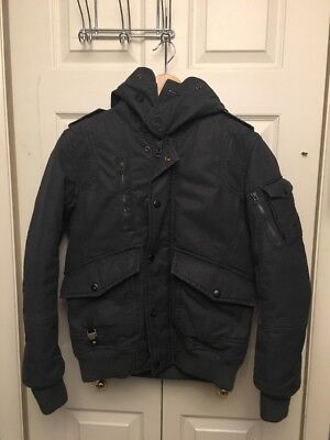 Diesel Waxed Bomber Jacket Size Small