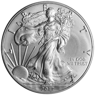 2017 Silver American Eagle 1 oz. .999 fine Coin US $1.00 Brilliant Uncirculated