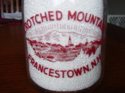 TRPQ 1940's CROTCHED MOUNTAIN Francestown NEW HAMPSHIRE dairy N.H. milk bottle