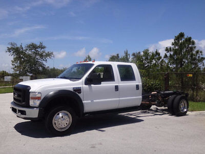 """2008 Ford F-550 2WD Crew Cab 200"""" WB 84"""" CA XL 2008 Ford F550 Crew Cab Cab & Chassis Long Wheel Base 1 Owner FL Truck 2WD"""