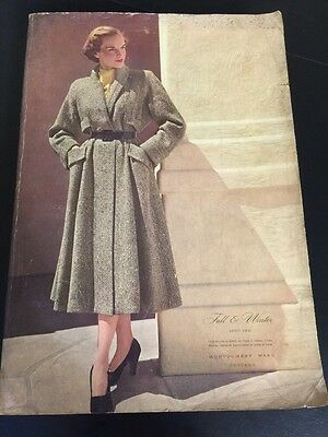 1950 1951 Montgomery Wards Catalog Fall Winter Fashion 1000+ Pages