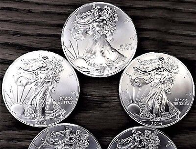 Lot of 3 Silver American Eagle 2014 1 oz .999 BU Coins US $1 Dollar Uncirculated