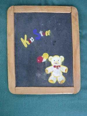 Antique Paco School House Slate Chalk Board Writing Learning Kid Stuff #3