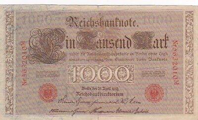1910 Germany 1,000 Mark Note, Pick 44b