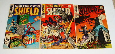 1968 Nick Fury Agent Of Shield Issue #1 , 2 And 3 Comic Books
