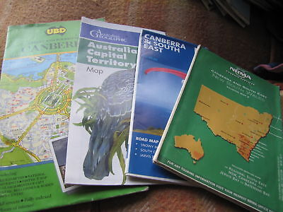New South Wales Canberra Maps Older Style And Vintage As Pictured