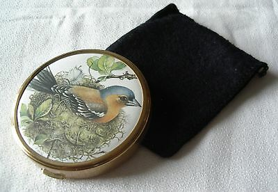 Vintage Margaret Rose Convertible Powder Compact –Picture Of Bird On Lid