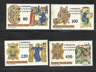 1980 Vatican 15th centenary of the birth of St. Benedict of Nursia MNH 4 of 5