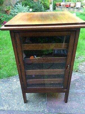 Antique Wooden Collectors Cabinet Music Cabinet