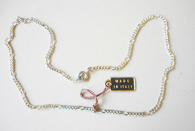 New Silver Italian 5 Links Necklace