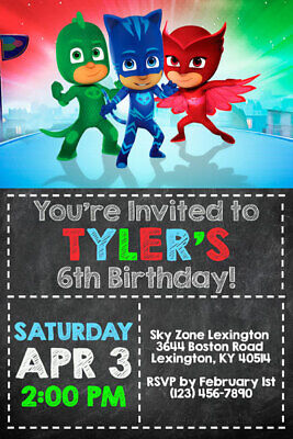 image relating to Pj Masks Printable Images titled PJ MASKS Invites - Birthday Social gathering - Delivered or Printable