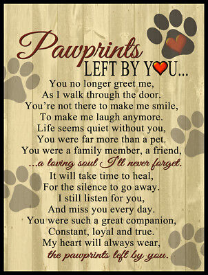 Pawprints Left By You 9x12 Aluminum Outdoor Cat Dog