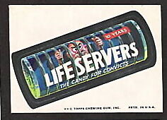 1974 Topps Wacky Packages Life Savers Servers Candy 10th Series 10 EX+