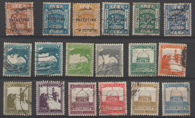 Palestine, selection of 18 stamps from a pre-war collection.