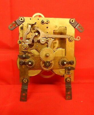 Antique Clock Movement Untested For Repair Or Spare Parts,