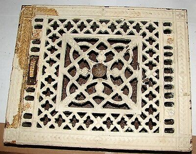 Cast Iron Floor Louver Grate Vent TUTTLE & BAILEY Antique Old Cast Iron Ornate