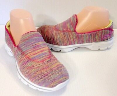 Skechers GOwalk 3 - FitKnit Extreme Womens Slip On Multi-Color Walk Shoes 7 / 37