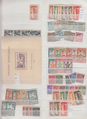 FRANCE FRENCH GUIANA 2 STOCK PAGES COLLECTION LOT $300+ 99c NO RESERVE