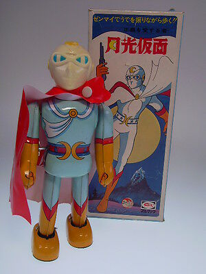 "Gs Japan Heroes ""moonlight Mask"" Bullmark, Wind Up, Japan, Nearly New/good Box !"