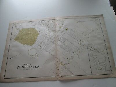 (1) One 1889 Antique Map-Massachusetts, Part Of Winchester;  G. Walker