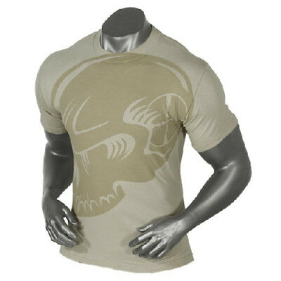 Voodoo Tactical 20-9967250 Men's Sand SuBDUed Skull Preshrunk Cotton T-Shirt 2XL