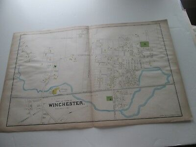(1) One 1889 Antique Map-Massachusetts,  Part Of Town Of Winchester;  G. Walker