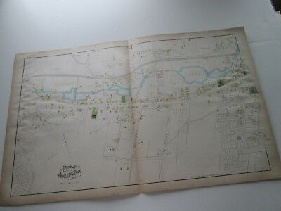 (1) One 1889 Antique Map-Massachusetts,  2-Part Of Town Of Arlington;  G. Walker