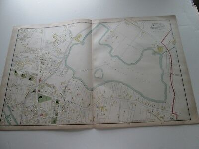 (1) One 1889 Antique Map-Massachusetts,  3-Part Of Town Of Arlington;  G. Walker