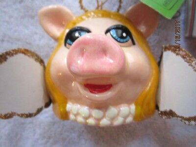 "1979 Muppets ""Miss Piggy Head""  Ceramic Christmas Ornament, 3"" by Jim Henson"