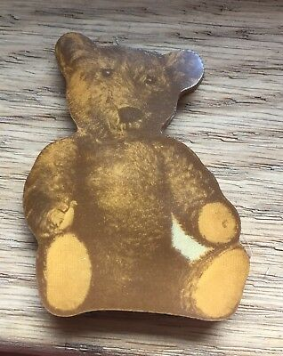 c 1907 Teddy Bear Pin Case / Needle Case Celluoid (?) Advertising