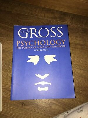 Psychology: The Science of Mind and Behaviour by Richard D. Gross (Paperback)
