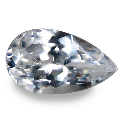 0.900Cts Splendid Top Luster White Natural Sapphire Pear Loose Gemstones