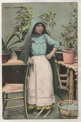 MALTA - COUNTRY WOMAN Postcard *
