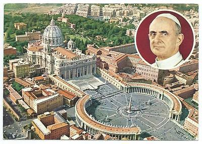 VATICAN CITY & POPE PIUS VI 1966 Postcard *