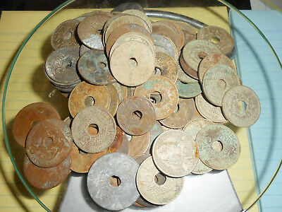 Very Rare Lot - 97 French Indochina Coins - 425 Grammes, Vietnam, Laos, Cambodia